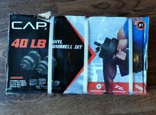🔥BRAND NEW 40 lb Adjustable Dumbbell Weight Set - CAP Vinyl Set - FREE SHIPPING