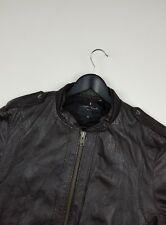 ALL SAINTS LEATHER BOMBER JACKET SIZE XL EXCELLENT CONDITION!