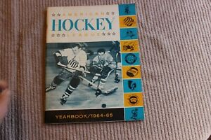 1964-65 AHL minor league hockey yearbook