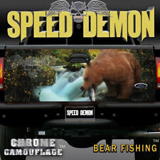 TAILGATE WRAP Graphics Fishing Bear Nature Scene Decal Truck Accessories
