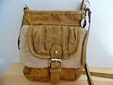 Big Buddha Small Mustard Yellow Crossbody Bag w/Faux Fur, Excellent Condition