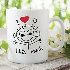 I Love You This Much Mug Enfants Fête Des Mères Travail tasse de café WSDMUG362