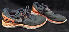 Nike Lunareclipse 4 Running Men's Shoes Size 9.5 Gray Orange 629682-011