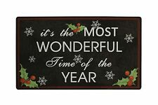 "28"" x 17"" Christmas Holiday Greeting Welcome Mat Door Decor"