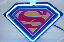 American DC Iconic Superman Clark Kent 3D Carved Beer Bar Real Neon Light Sign
