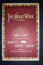 The Great Work In America, Jan. 1931, natural science. J.E. Richardson, Sadony