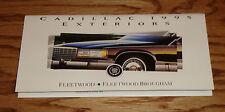 Original 1995 Cadillac Fleetwood Exterior Colors Foldout Sales Brochure 95