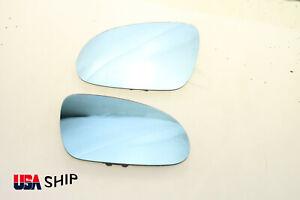 Aspherical Blue Tinted Heat Mirror Glass FOR VW GTI GOLF JETTA MK5 PASSAT B6 L+R