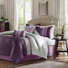 Sealed Madison Park 7-pc Mendocino Comforter Complete Set - Plum Leaf - King