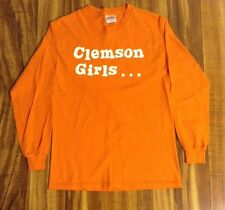 Clemson Girls Best In The World University Tigers Orange L/S T Shirt Size Small