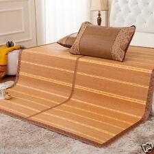 Bamboo bed mattress/floor mat summer folderable rattan mat & 2 pillowcases sale