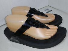 Women's Fitflop, Lunetta Thong Sandal Black 181-001 Womens sIze 10
