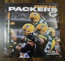 """2021 OFFICIAL GREEN BAY PACKERS WALL CALENDAR 12"""" X 12"""" LICENSED BY NFL + NFLPA"""