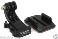 1 GENUINE GoPro Vertical Surface J-Hook Buckle Mount and curved sticky mount