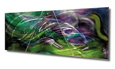 Metal Wall Art Sculpture Painting Purple Green Blue Silver Modern Decor Original