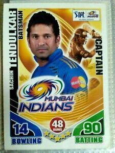 INDIA RARE DLF IPL TOPPS 2011 CRICKET ATTAX CARD SACHIN TENDULKAR 1st EDI.