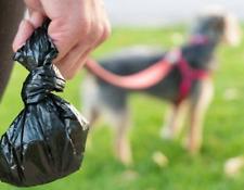 200  x  Dog Poo Bags  Doggy Waste Poop Tie Handles Pet Cat Pooper Scooper*