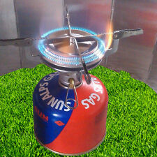Portable Stainless Steel Camping Stove Outdoor Picnic Cookout Mini Gas Burner