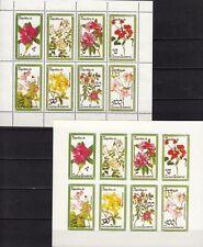 Äquatorialguinea / Blumen / 2 KB: 1x gezähnt und 1x geschnitten **