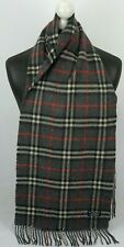 BURBERRY SCARF 100% LAMBSWOOL FOR MEN AND WOMEN MADE IN ENGLAND DARK GREY #59