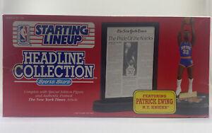 1992 Patrick Ewing NY Knicks SLU Headline Collection Figure & Framed Article