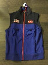 Polo Ralph Lauren Hi Tech Vest Jacket Men's Size Medium New Blue 92 Stadium