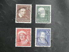 TIMBRES D'ALLEMAGNE : RFA 1951 YVERT N° 29/32 oblitéré SERIE COMPLETE  - TBE