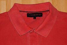 elegantes  TOMMY  HILFIGER  Poloshirt  langarm  Gr. XL  rot   piqué