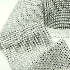 Silver Mesh Fabric Trim Rhinestone trimming,Embellishment,co stume,pageant