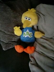 Hasbro Talking Big Bird Sesame Street Toy Soft Plush 15 Inch Abc