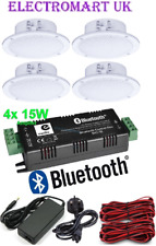 "WIRELESS BLUETOOTH STEREO AMP AMPLIFIER 60W + 4 X 4"" CEILING SPEAKERS KIT"
