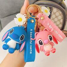 Disney Stitch Keychain Cute Lovely Cartoon Anime Daisy Key Chain Fashion Car