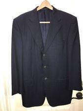 $2895 Rare Ermenegildo Zegna Navy Wool Stripe Suit 46S Surgeon Cuffs