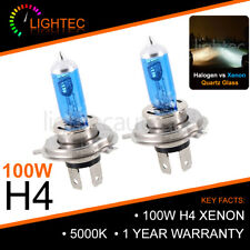 H4 100W HID WHITE XENON HALOGEN BULBS 12V PLASMA UPGRADE 5000K-6000K MAZDA