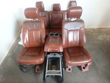 11-16 FORD F250 F350 FRONT REAR SEAT CONSOLE KING RANCH LEATHER POWER HEAT COOL