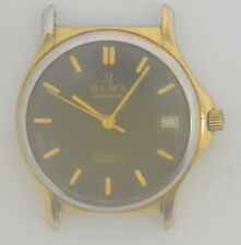 VTG OLMA Gold Plated Watch. Cal: ETA 2624.2. For Repairs