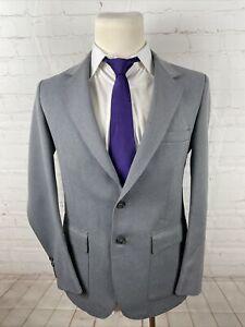 Farah Solid Men's Gray Blazer Solid Blazer 40R $295