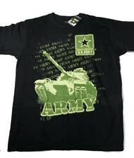 Official U.S Army Green Repeat Branch Military Army Tank Design Black Tee Large