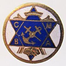 c.1900 CATHOLIC MUTUAL BENEFIT ASSOCIATION C.M.B.A.  enamel inlay collar stud +