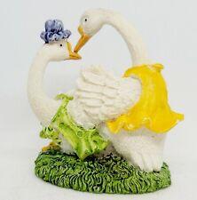 New Listingvintage Ceramic Fertile Geese Swans Loving Couple Statue Figurine