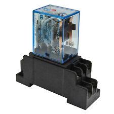 (Lot of 5) Omron MY2N-J (24V A/C Coil) 5A Cube Relay with Socket Base PYF08A