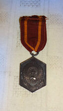 Victorian Sterling Silver Military Army Temperance Medal - 3 Year With Ribbon
