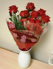 Artificial Silk Flowers 12 Red Roses Flower Head Floral Wedding Valentines
