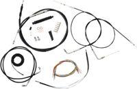 La Choppers Complete Black Vnyl Cable Line Mini Ape Kit Harley 07-13 Sportster