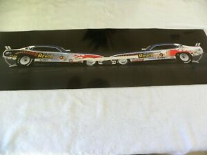 73 Revellution Funny Car Illustration. 36x10.5 NHRA, Dragster, poster, The ACE