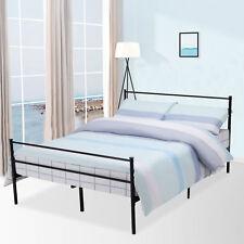 Full Size Metal Bed Frame Platform Headboards with 6 Legs Furniture Bedroom