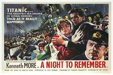 A Night To Remember, Titanic Movie Film Image England, Ship --- Modern Postcard