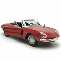 1:32 Vintage Alfa Romeo Spider Model Car Diecast Collection Red Gift Doors Open