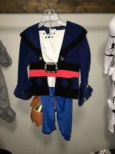 Boy CAPTAIN JAKE AND THE NEVERLAND PIRATES Costume Disney Store Child Size 5/6