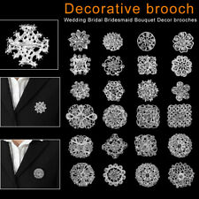Pack of 24x Mixed Alloy Rhinestone Crystal Brooch DIY Wedding Bouquet nice